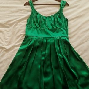 Silk, Kelly Green Dress